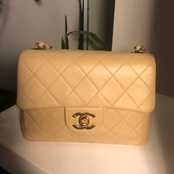 d200ccaf4fb7 CHANEL Bags | Sold Auth Beige Lambskin Mini Crossbody | Poshmark